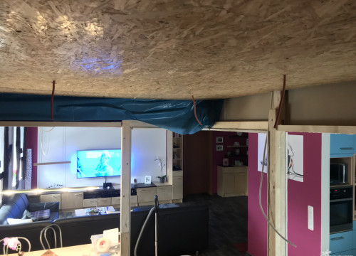 Decke mit OSB3 fertiggestellt