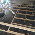 Kantholz Ständerbauweise für Bodenplatte