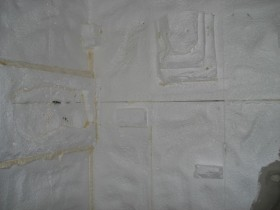 Strukturierte Styropor Rückwand Wasseragamen Terrarium