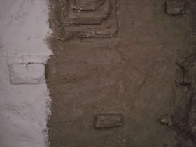 Styropor Rückwand mit Flex Fliesenkleber