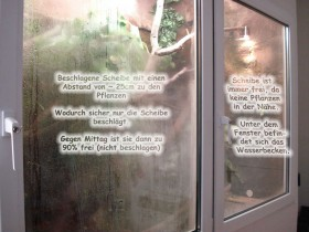 Wasseragamen Terrarium Beschlagene Scheiben